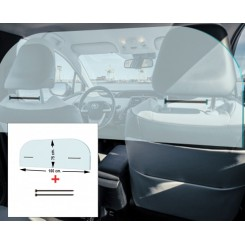 Mampara protección taxi