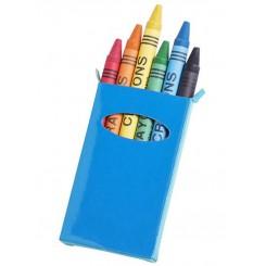 Caja 6 ceras de colores